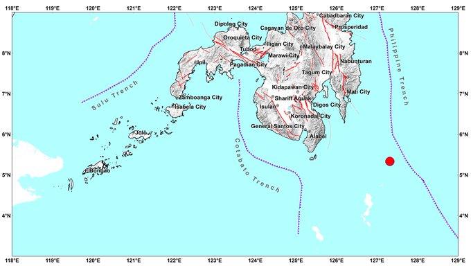 Terremoto de magnitud 7.0 sacude el sureste de Filipinas